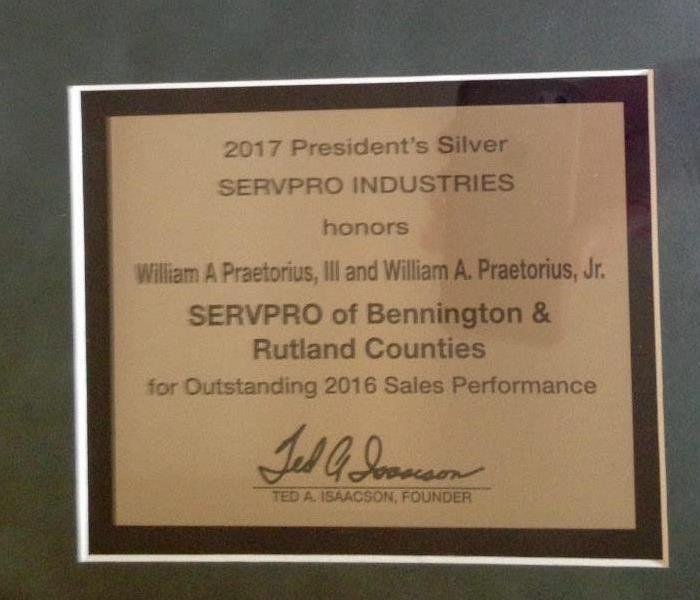 2016 Outstanding Sales Performance Award