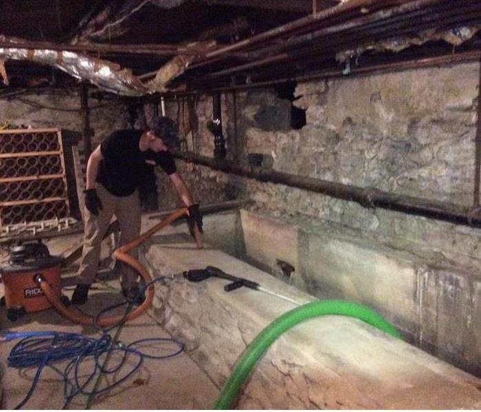Basement Deep Cleaning of Rodents and Debris