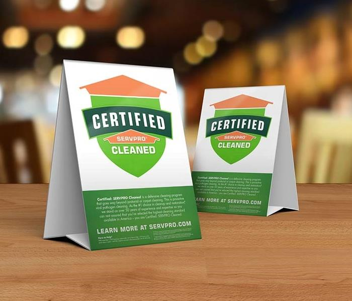 Certified: SERVPRO Cleaned Program of Bennington and Rutland Counties